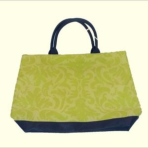 2 for $20  Vibrant Green/Yellow Tote